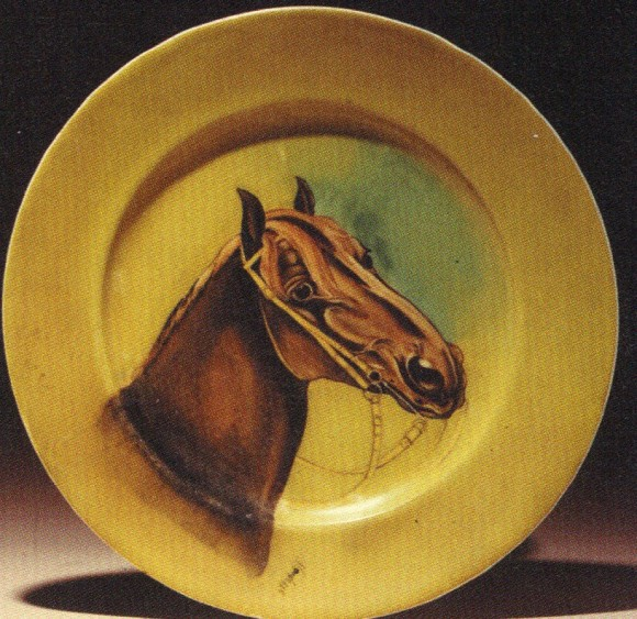 Handel Ware Plate with Horse