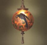 Handel Lantern Ball with Blue Parrott
