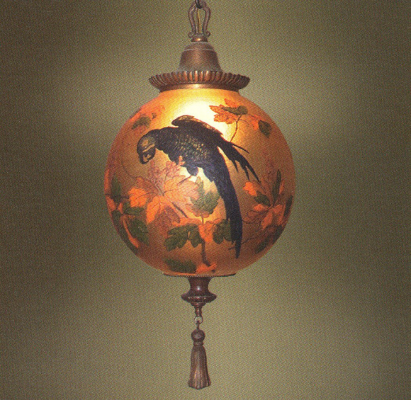 Handel Lantern Ball with Blue Parrott