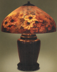 Handel Lamp with White Flowers