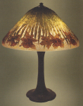 Handel Lamp with Brown Daffodils