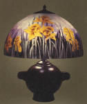 Handel Lamp with Yellow Daffodils