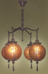Handel Chandelier with Four Ball Lanterns
