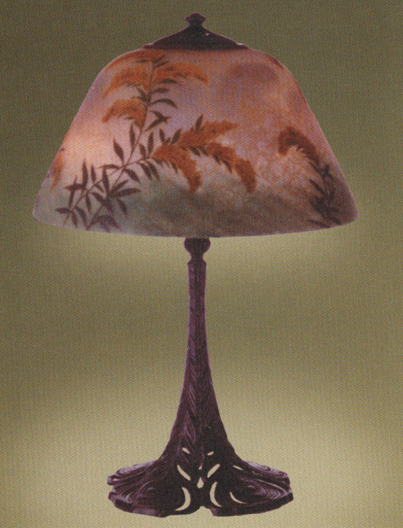 Handel Lamp with Wheat Stalks