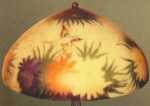 Handel Lamp with Hummingbird