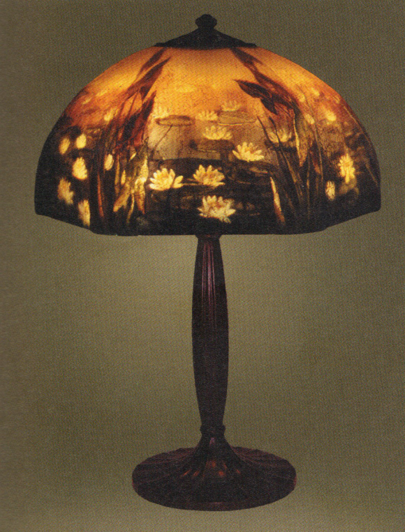 Handel Lamp with Marsh and Lily Pads