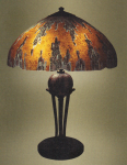 Handel Lamp with Lava Pattern