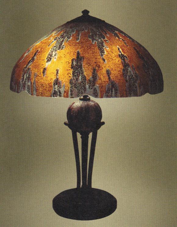 Handel Lamp with Lava Pattern