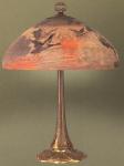 Handel Lamp with Mallard Ducks