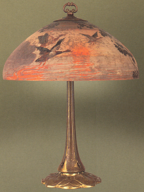 Handel Lamp with Mallard Ducks