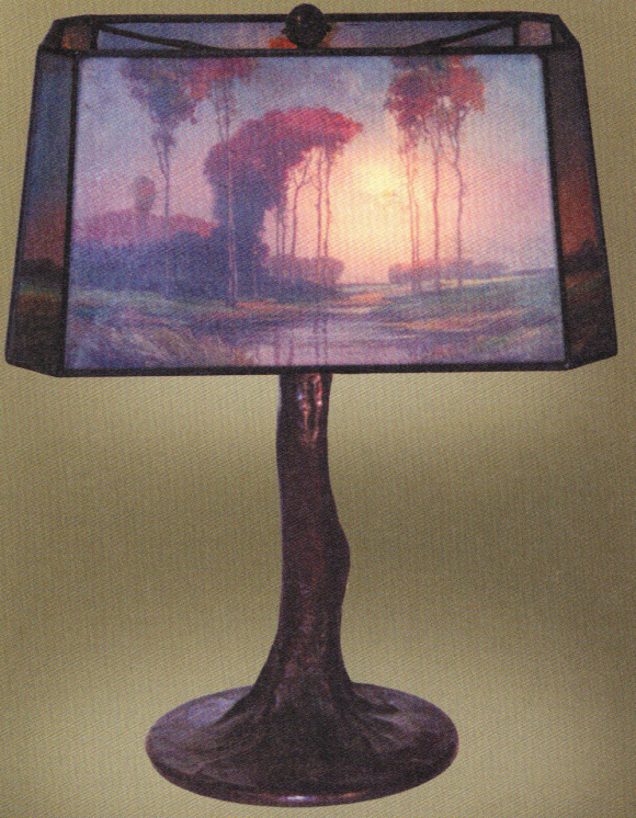Handel Lamp with Square Shade