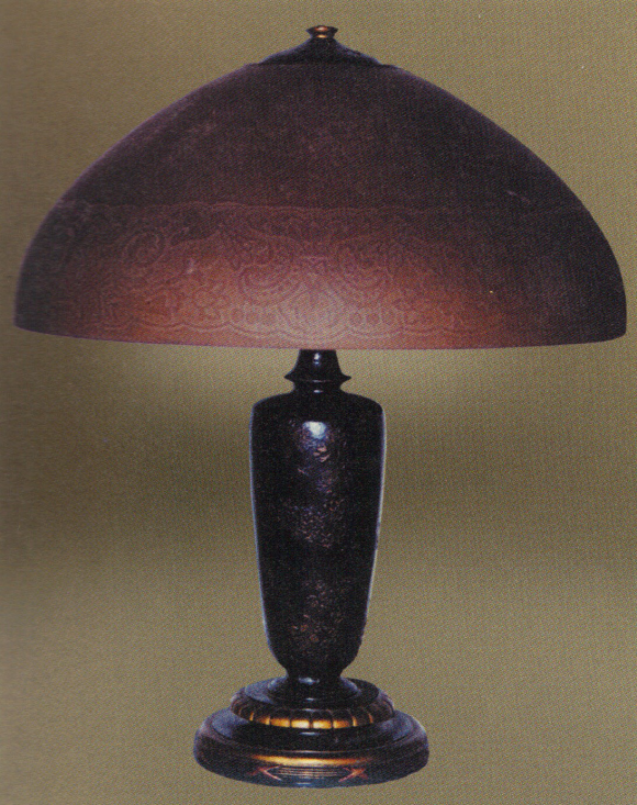 Handel Lamp with Geometric Shade