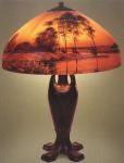 Handel Lamp with River Scene