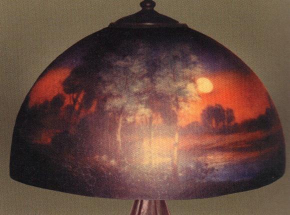 Handel Lamp with Orange Sky