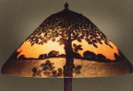 Handel Lamp with Painted Tree