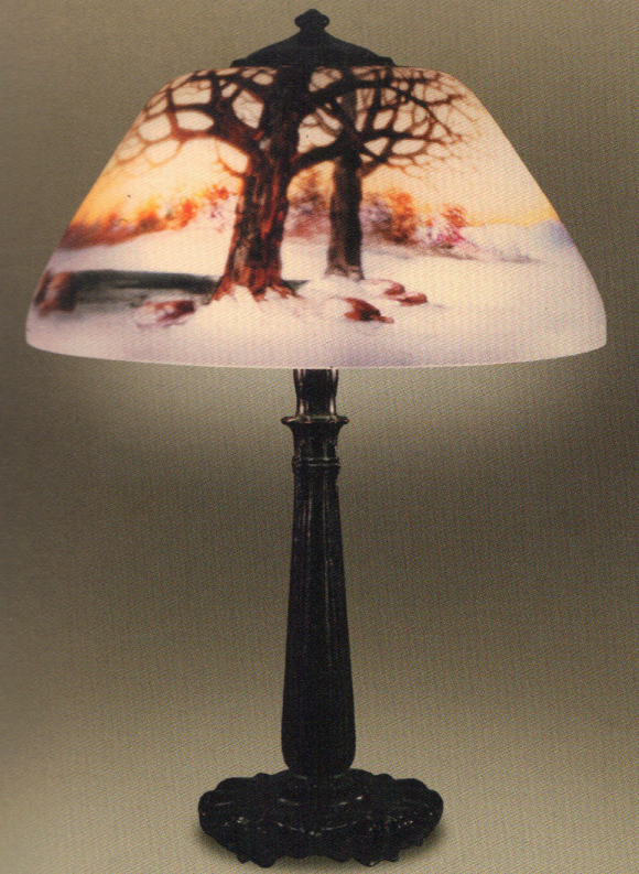 Handel Lamp with Snow and Pond