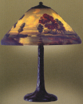 Handel Lamp with Clouds in the Sky