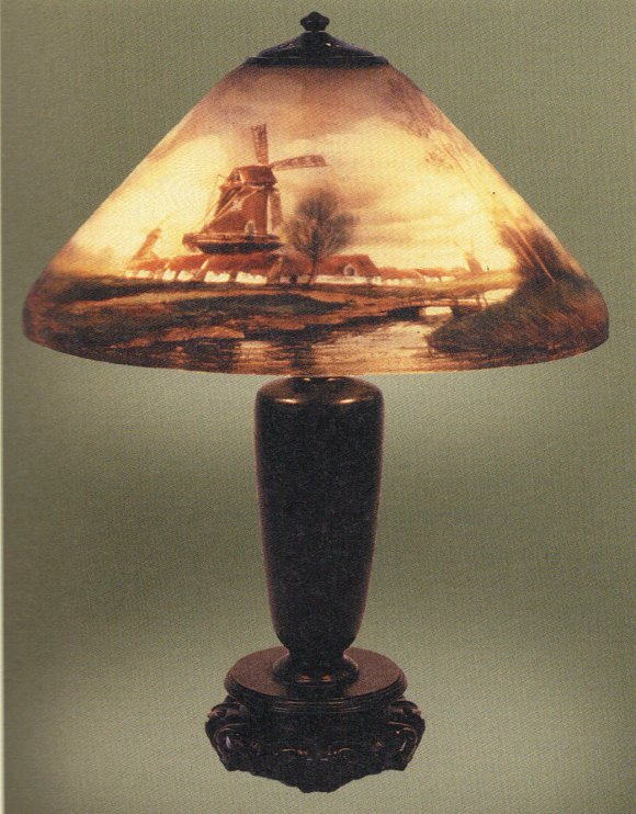Handel Lamp with Windmill