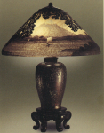 Handel Lamp with Mount Fuji and Sailboat