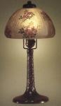 Handel Lamp with Pink Pansies