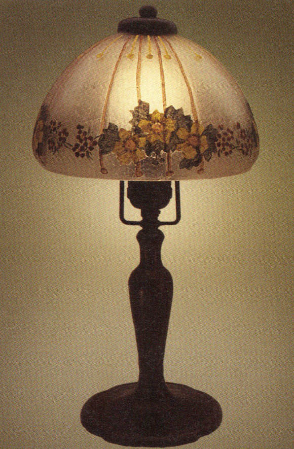 Handel Boudoir Lamp with Painted Shade