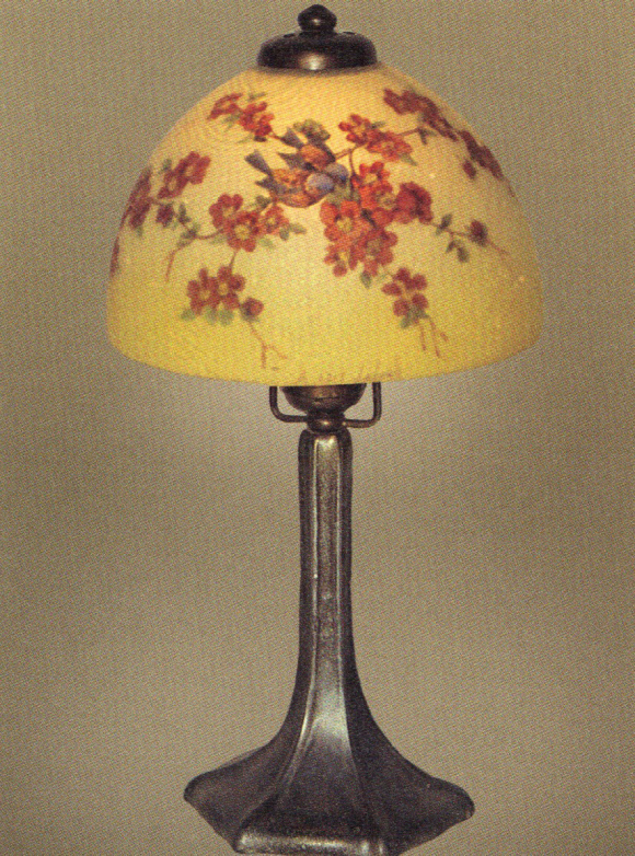 Handel Lamp with Two Sparrows