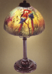 Handel Lamp with Two Jungle Birds