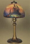 Handel Lamp with Douglas Fir Trees