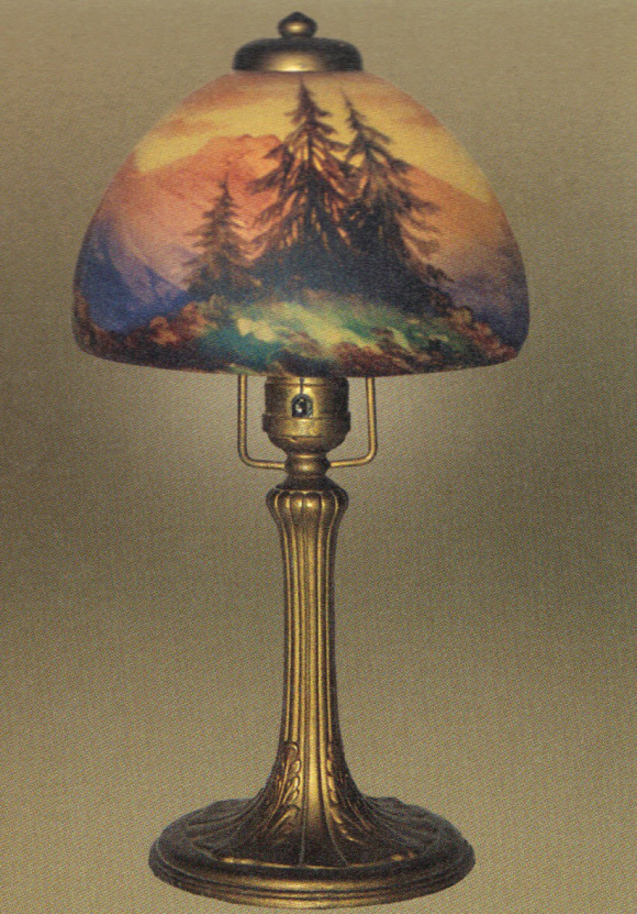 Handel Lamp with Douglas Fir Trees