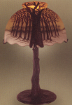 Handel Lamp with Winter Trees