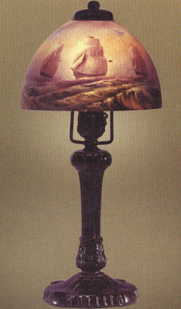 Handel Lamp with Sailboats