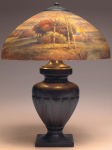 Handel Lamp with Birch Trees