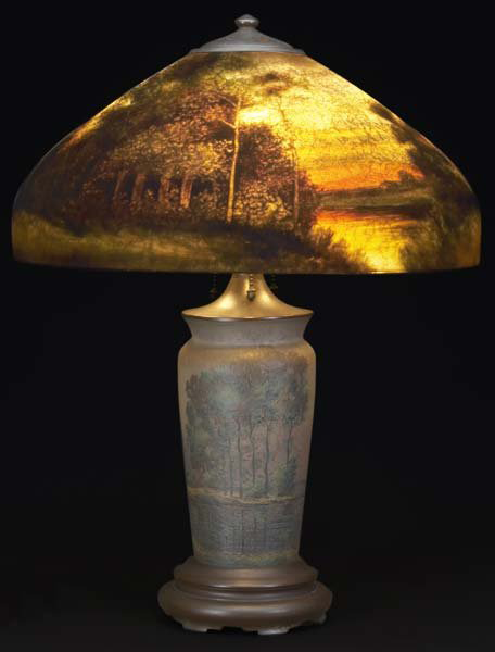Handel Lamp with Setting Sun