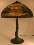 Handel Lamp with Palm Trees
