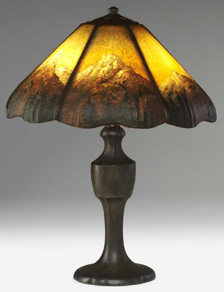 Handel Lamp with Mountain Peaks