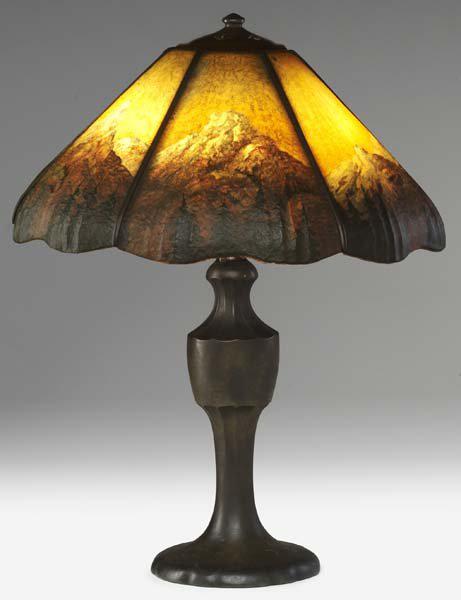 Handel Lamp with Mountain Peaks