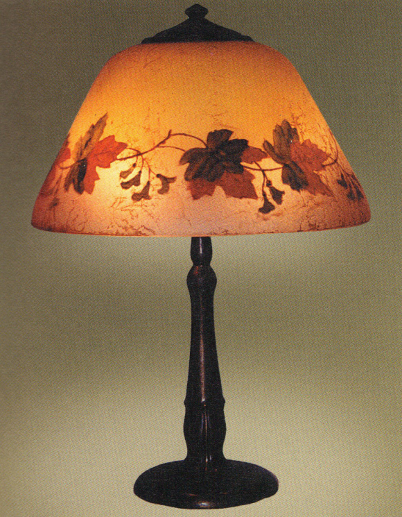 Handel Lamp with Maple Leaves