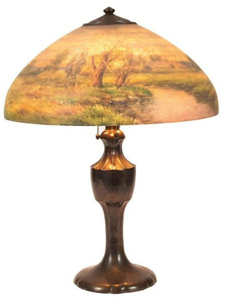 Handel Lamp with Field and Stream