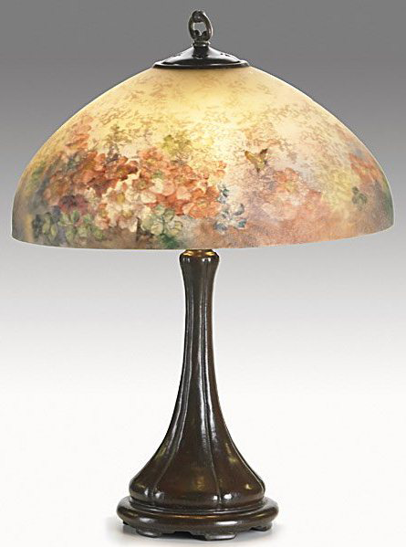 Handel Lamp with Pastel Flowers