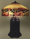 Handel Lamp with Green Leaves