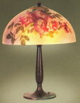 Handel Lamp with Pink Roses