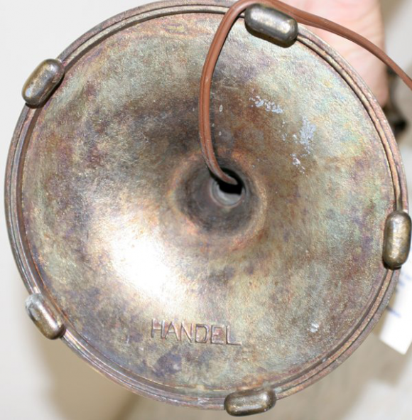 Handel Lamp with Marked Base
