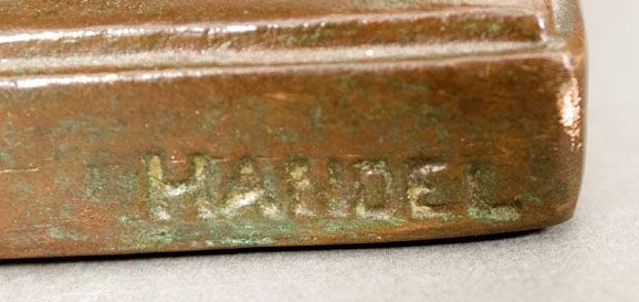 Handel Stamped on Side of Base