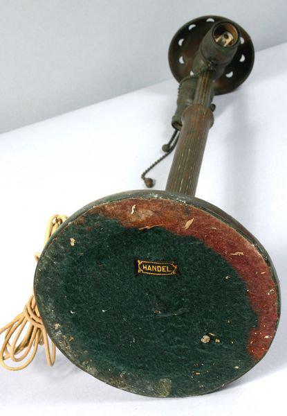 Handel Base Showing Felt and Cloth Handel Tag | Handel Lamps
