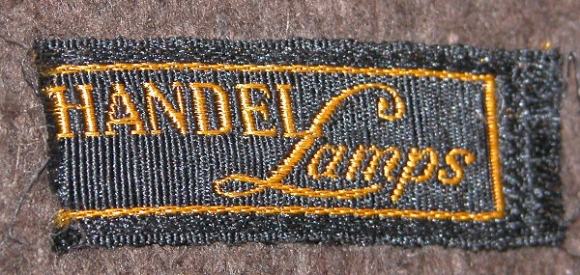 Handel Lamps Cloth Tag Mark on Base
