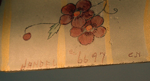 Handel Lamp Shade with C.N. Signature