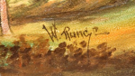 Handel Shade with W. Runge Signature