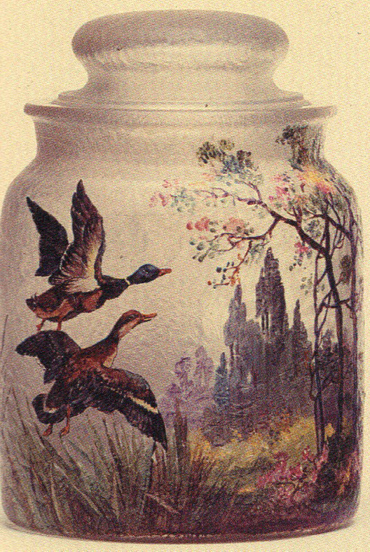 Not Numbered – Handel Jar with Mallard Ducks