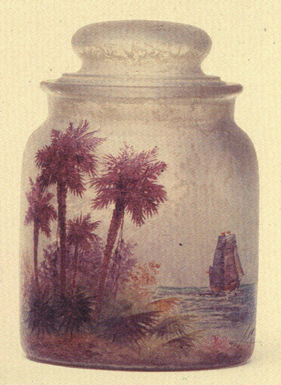 4204 – Handel Jar with Palm Trees