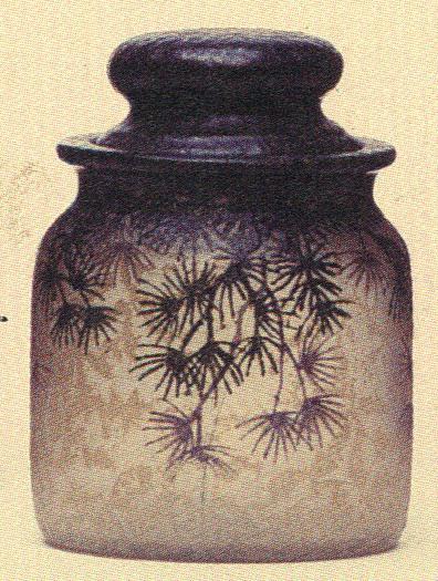 4205 – Handel Jar with Pine Tree Leaves